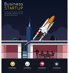 Business meeting for start up concept vector image vector image