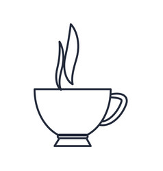 Coffee cup hot beverage aroma fresh vector