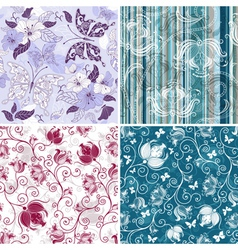 collection seamless pattern vector image