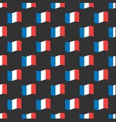 france flags seamless pattern vector image