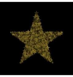 Golden magic star vector image vector image