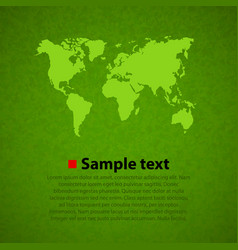 green world map background vector image vector image