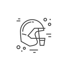 helmet city line icon vector image