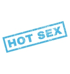 Hot Sex Rubber Stamp vector image vector image