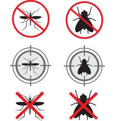 Insecticide symbols vector