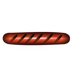 isolated sausage icon vector image