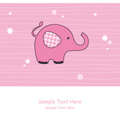 lephant pink vector image vector image