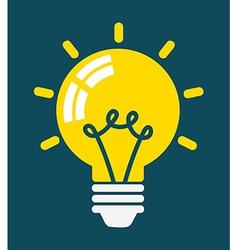 Light bulb vector