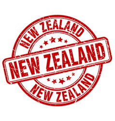 New zealand red grunge round vintage rubber stamp vector