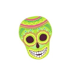Painted Scull Mexican Culture Symbol vector image