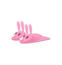 Pink rabbit slippers vector