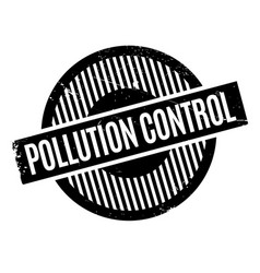 pollution control rubber stamp vector image vector image