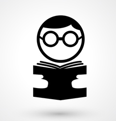 reading book icon vector image vector image