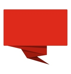 Red banner icon flat style vector image vector image