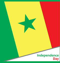 Senegal independence day vector