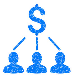 shareholders grunge icon vector image