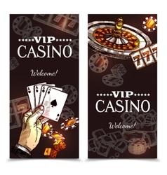 Sketch casino vertical banners vector