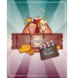 Sketch cinema poster vector image vector image
