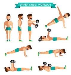 The best upper chest workout for men exereise at vector