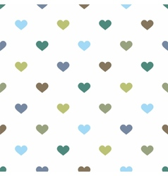 Tile pattern pastel hearts on white background vector image