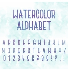 watercolor Abstract alphabet Letters with vector image