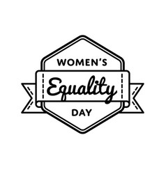 womens equality day greeting emblem vector image