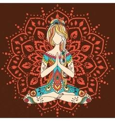 Yoga-10color vector
