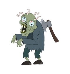 Zombie man cartoon character vector image