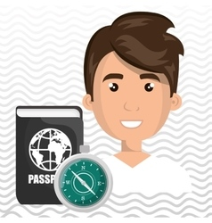 Man password id travel vector