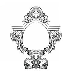 Baroque rococo exquisite mirror frame decor vector