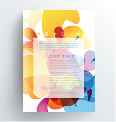 Book cover design template with abstract colorful vector