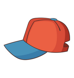 Cap icon cartoon style vector