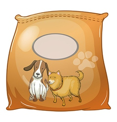 A pack of dogfoods with an empty label vector image