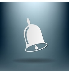 Bell first call a symbol of the school vector
