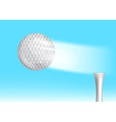 Golf ball in the sky vector
