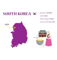 Korea map vector