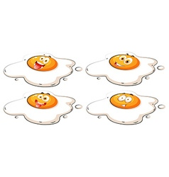 Egg yolk with faces vector