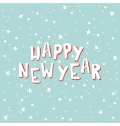 Happy new year on a light blue background with vector