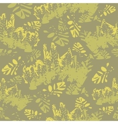 Camouflage floral seamless pattern vector