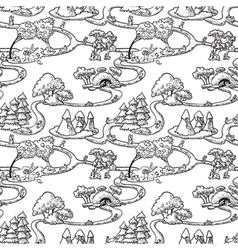 Seamless with rabbits vector