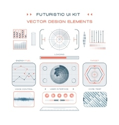UI flat design web elements template set interface vector image