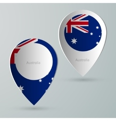 Paper of map marker for maps australia vector