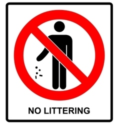 No littering sign vector