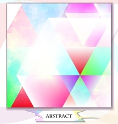 abstract background triangles vector image