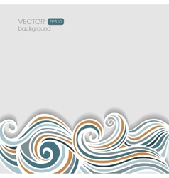 Abstract horizontal waving background vector image vector image