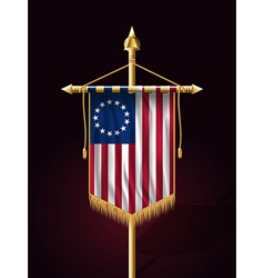 American betsy ross flag vertical banner vector