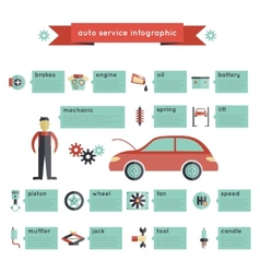 Auto Service Infographics vector image vector image