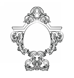 Baroque rococo exquisite mirror frame decor vector