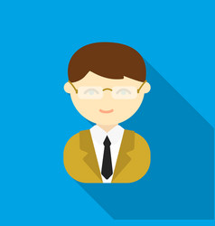 Business man flat icon for web and vector