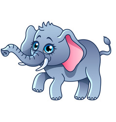 cartoon elephant isolated vector image vector image